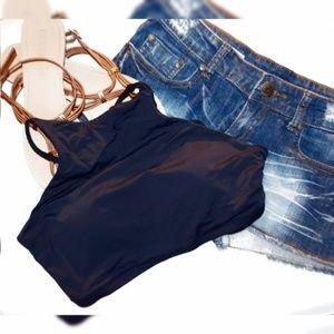 NWT Eidon Adelina High Neck Halter Bikini Top